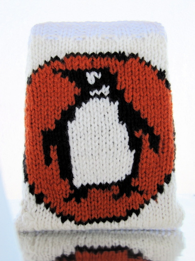 How to make a book cover. Knitted Penguin Books Book/Nook/Kindle Cover - Step 4