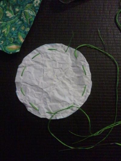 How to sew a yo yo hair clip. Removeable Suffolk Puff Hair Clip - Step 6