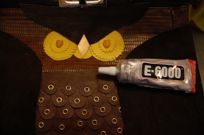 How to make a handbag. Diy Kate Spade Owl Purse, Version 2 - Step 9
