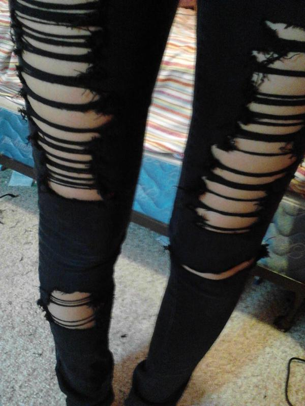 Ripped Skinny Jeans · How To Rip A Pair Of Ripped Jeans · No-Sew ...