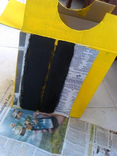 How to make an chracter costume. Transformers Bumble Bee Costume - Step 7