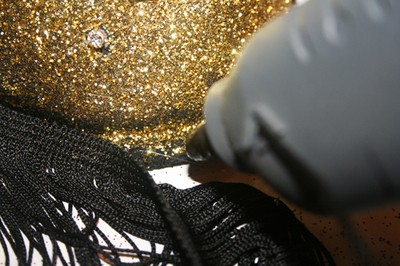How to make a shoulder pad. Sequined Shoulder Pads/Epaulettes From An Old Bra - Step 13