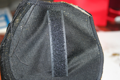 How to make a shoulder pad. Sequined Shoulder Pads/Epaulettes From An Old Bra - Step 16