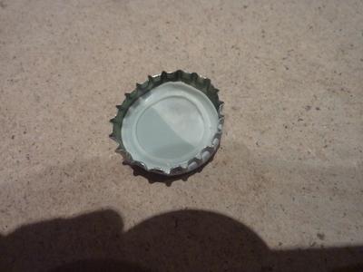 How to make a bottle cap pendant. Vintage Look Bottle Top Locket - Step 2