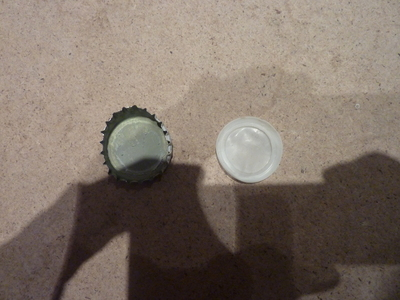 How to make a bottle cap pendant. Vintage Look Bottle Top Locket - Step 3