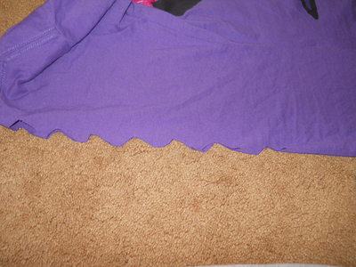 How to make a fringed top. Diamonds And Fringe - Step 3