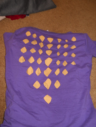How to make a fringed top. Diamonds And Fringe - Step 6