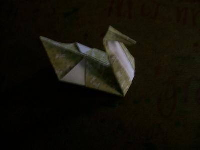 How to fold an origami bird. Origami Swan - Step 6