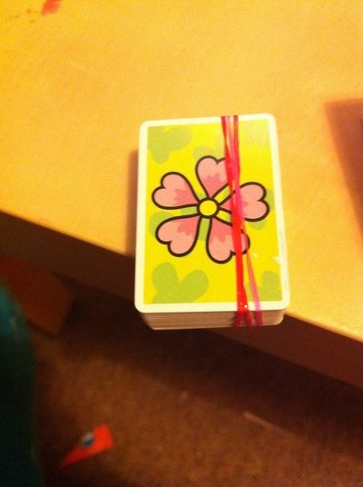 How to make a playing card notebook. Mini Playing Cards Book - Step 1