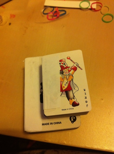How to make a playing card notebook. Mini Playing Cards Book - Step 3