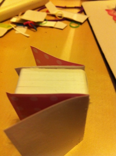 How to make a playing card notebook. Mini Playing Cards Book - Step 5