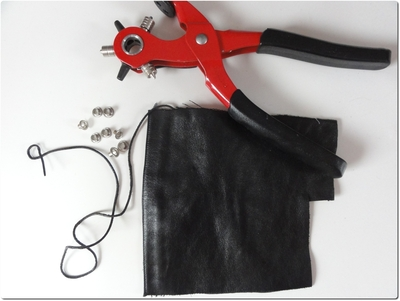 How to make a hair accessory. Leather Hair Corset - Step 1
