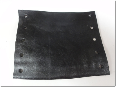 How to make a hair accessory. Leather Hair Corset - Step 6