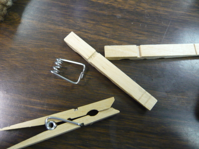 How to make a recycled bracelet. Clothes Pin Bracelet...Sort Of. - Step 2