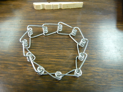 How to make a recycled bracelet. Clothes Pin Bracelet...Sort Of. - Step 5