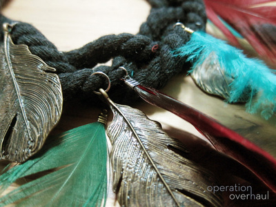 How to make a feather necklace. Feather & Rope Necklace - Step 13