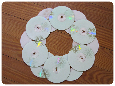 How to make a recycled wreath. Cool Winterish Wreath Made Of Old C Ds - Step 9
