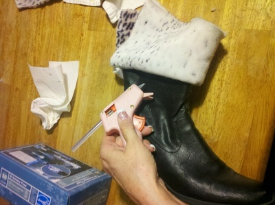 How to make a pair of furry boots. Fur Boots - Step 6