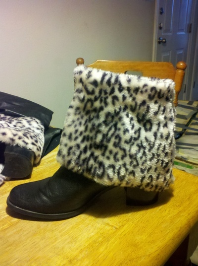 How to make a pair of furry boots. Fur Boots - Step 7