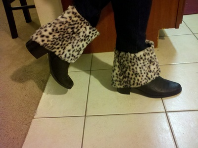 How to make a pair of furry boots. Fur Boots - Step 8