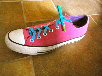 How to make a shoe lace. Duct Tape Shoelaces - Step 11