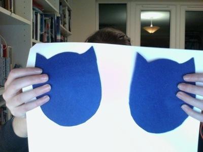 How to make a bird plushie. Cute Owl - Step 1