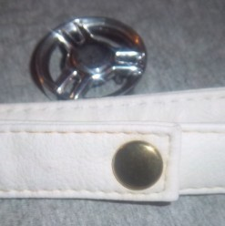 How to make a recycled belt. Belt Made From Purse Straps - Step 3