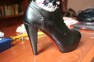 How to make a pair of embellished shoes. Louboutin Shoes/Boots Bluefly - Step 5