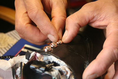 How to make a pair of embellished shoes. Louboutin Shoes/Boots Bluefly - Step 8