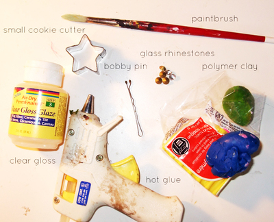 How to make a hair clip / barrette. Marc Jacobs Inspired Star Hair Clips - Step 1