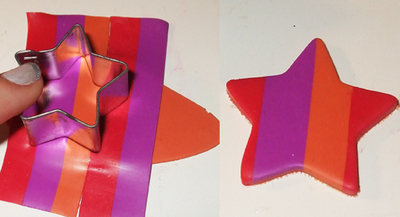 How to make a hair clip / barrette. Marc Jacobs Inspired Star Hair Clips - Step 6