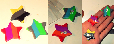 How to make a hair clip / barrette. Marc Jacobs Inspired Star Hair Clips - Step 7