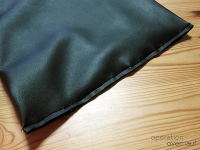How to sew a leather tote. Black Leather Shopping Tote - Step 5