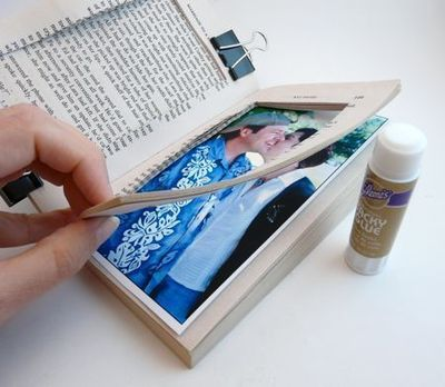 How to make a recycled photo frame. Paperback Picture Frame - Step 6