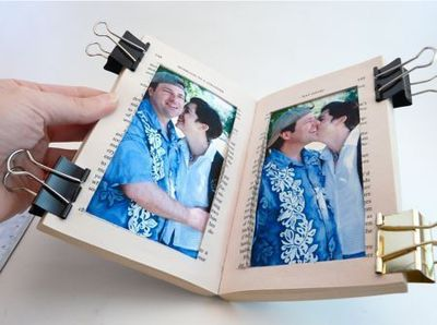 How to make a recycled photo frame. Paperback Picture Frame - Step 7