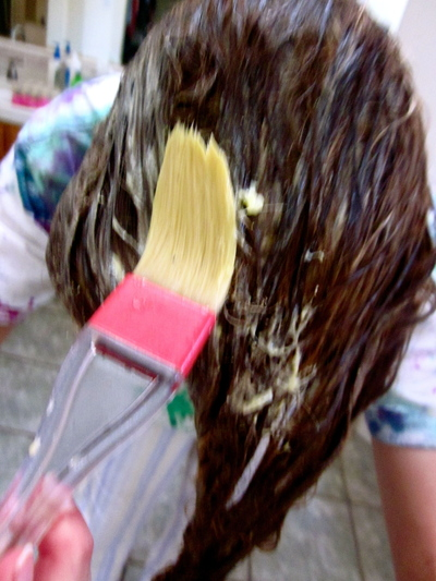 How to make a hair mask. Homemade Mask For Healthy Hair - Step 8