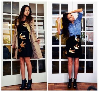 How to embellish a sequin dress. Diy Miu Miu Sequin Bird Dress - Step 5