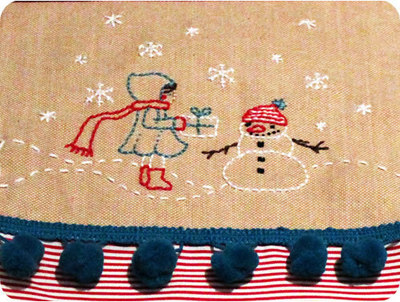How to make a Christmas stocking. Let's Sew A Christmas Stocking And Add A Unique Embroidery - Step 7