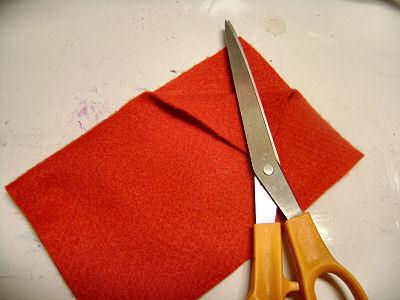 How to make a novelty hat. No Sew Mini Santa Hat - Step 4