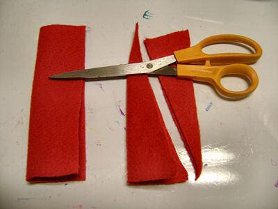 How to make a novelty hat. No Sew Mini Santa Hat - Step 5