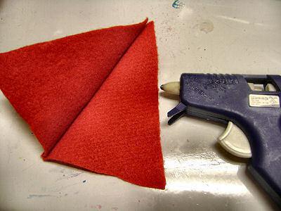 How to make a novelty hat. No Sew Mini Santa Hat - Step 6