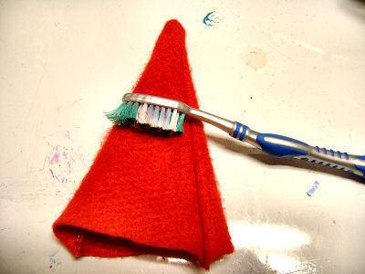 How to make a novelty hat. No Sew Mini Santa Hat - Step 8