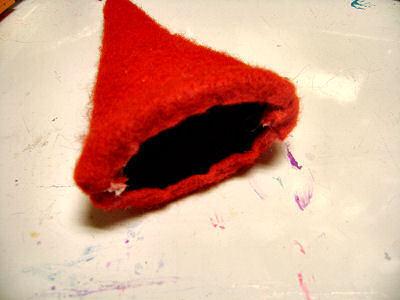 How to make a novelty hat. No Sew Mini Santa Hat - Step 10