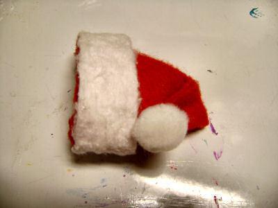 How to make a novelty hat. No Sew Mini Santa Hat - Step 16