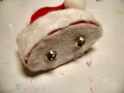 How to make a novelty hat. No Sew Mini Santa Hat - Step 18