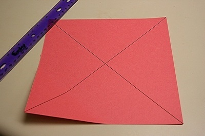 How to fold a paper explosion box. Magic Boxes - Step 1
