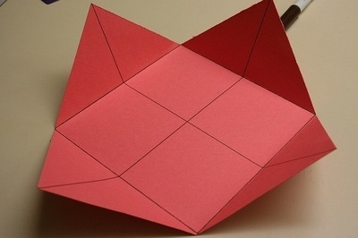 How to fold a paper explosion box. Magic Boxes - Step 4