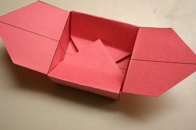 How to fold a paper explosion box. Magic Boxes - Step 11