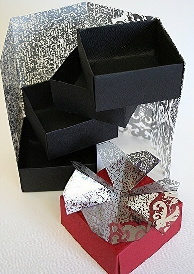 How to fold a paper explosion box. Magic Boxes - Step 15