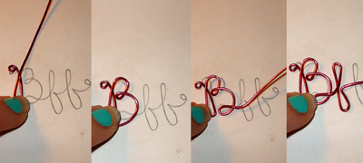 How to make a wire word necklace. Bff Necklace - Step 3